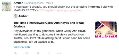 Interview Corey Ann Haydu